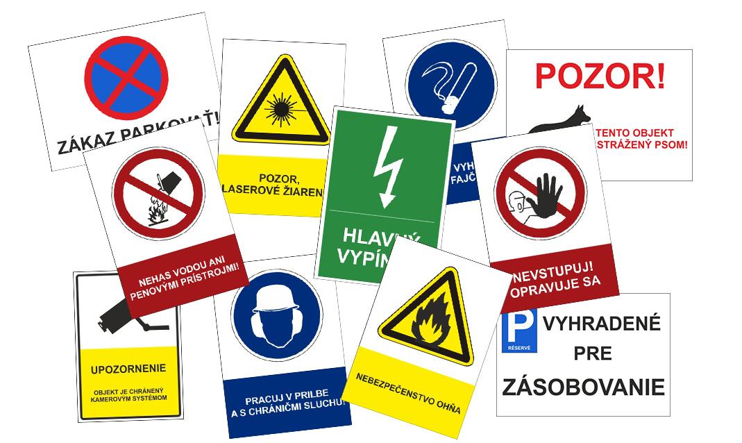 Predaj bezpečnostných tabuliek
