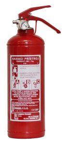 Prenosný hasiaci prístroj práškový 1kg